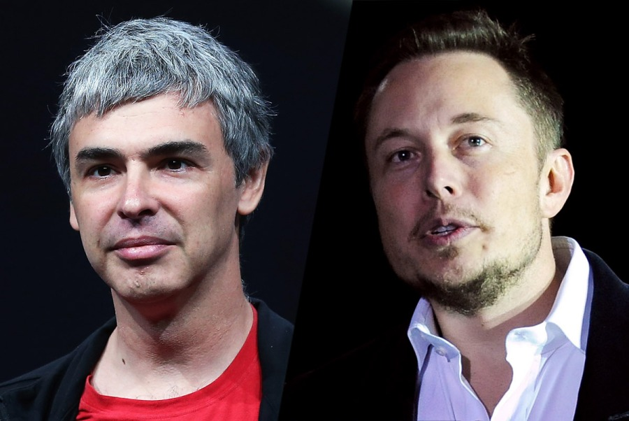elon musk & larry page
