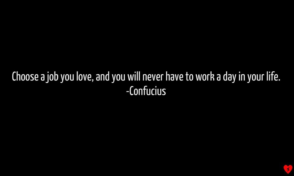 ama tu trabajo